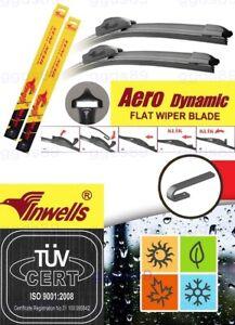 "Hyundai ix35 2010-2015 Aero Flat Windscreen Front Wiper Blades 24"" 16"" J-Hook"