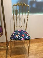 Mid Century Messing Stuhl Chiavari Chair Designer Gucci Silk Fabric By Rosenthal