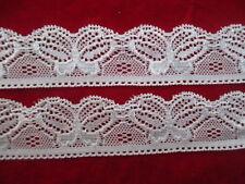 New! 5 yards white lace pattern beautiful butterfly stretch lace free shipping