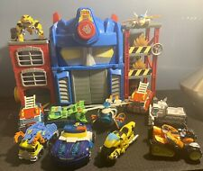 LOT Talking Light-up Transformers Prime House and 11 Rescue Bots Energize Figure