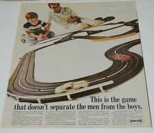 Nice Vintage Aurora Electric Racetrack Race Cars Toy Magazine Ad Rare