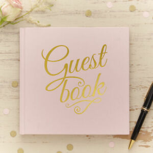 Ginger Ray PP-646 Pastel Perfection Wedding Guest Book- 32 Pages