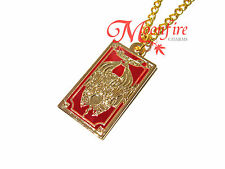 CARDCAPTOR SAKURA THE CLOW CARD PENDANT NECKLACE TAROT GOLD-PLATED BEST QUALITY