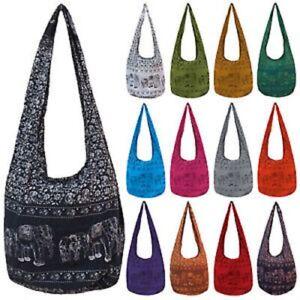 Elephant Print Long Hobo Bag Brand New made in Chiang Mai