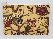 Woodland Owls Fabric Handmade Zippy Coin Money Purse Storage Pouch