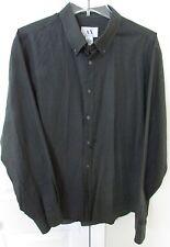 Armani Exchange A/X Mens Button Front Long Sleeve Shirt XL Dark Gray EUC