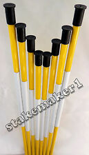 Driveway Markers Snow Stakes 100 Pack of 48 Inch Long Yellow Reflective markers