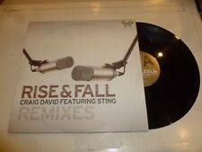"CRAIG DAVID featuring STING - Rise & Fall - 2003 UK 3-track 12"" vinyl single"