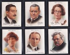 WILLS, FAMOUS BRITISH AUTHORS, ORIGINAL LARGE SERIES OF 40 ISSUED IN 1937.