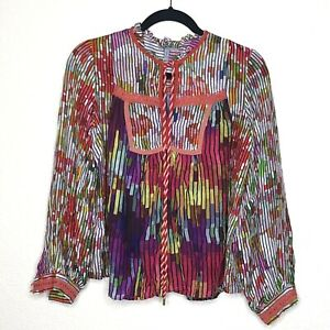 Anthropologie Conditions Apply Colorful Blouse Size S