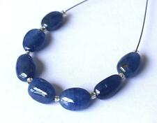 NATURAL BURMESE SAPPHIRE BEADS 4.5X6.5 - 6.5X8 MM 7 PCS GEMSTONE BEADS #S179