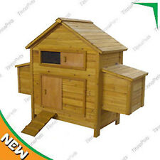 Large Classical Chicken Coop house Chook Hutch with double Egg Cages P022o