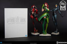 Sideshow DC Gotham Sirens POISON IVY CATWOMAN HARLEY QUINN Statues + PORTFOLIO