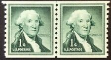 1c Washington Coil Line Pair in the Liberty Series, Scott #1054, MNG, VF