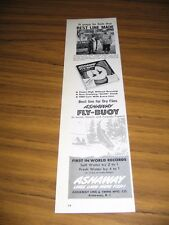 1963 Print Ad Ashaway Fly-Buoy Fishing Line 32 lb Atlantic Salmon