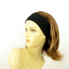 Stirnband Perücke frau mit lang Dunkelblond Docht blonde klar ref XENA 6bt27b