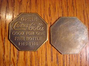 Coca-Cola World's Fair Coke Good Luck Token Old Western