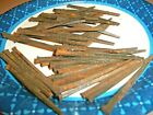 50 - 2 1/2' LONG, THIN !,  EARLY SQUARE STEEL NAILS, GREAT MAINE BARN FIND !