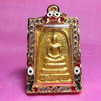 Phra Somdej LP Toh Thai Buddha Amulet Brass Wat Rakang Pendant magic Talisman