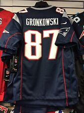 New England Patriots Rob Gronkowski Limited Jersey NFL Football Medium Blue Home