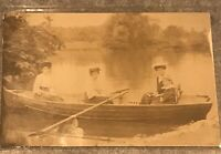 Postcard Three Woman And A Child In Rowboat On A Lake.boat Alexandra