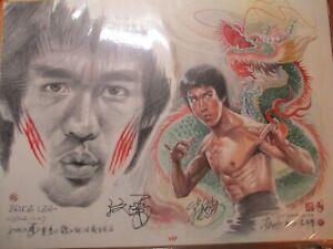 Bruce Lee Cartoon by Tsui Shing On
