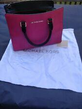 michael kors style bag, Black and Pink, medium Saffiano style