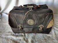 """Vintage Antique Small 11"""" Leather Medical Doctors Bag Satchel"""