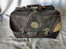 Vintage Antique Small 11 Leather Medical Doctors Bag Satchel