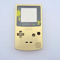 GBC Nintendo Game Boy Color Replacement Housing Shell Pokemon Pikachu Gold MINT