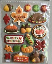1 sheet Thanksgiving themed puffy Stickers Papercraft Planner Journal Fall