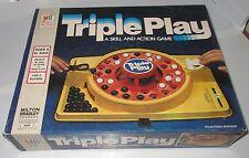 Vintage Milton Bradley 1978 Triple Play Marble Board Game Complete #4840 Used