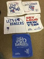 NY New York RANGERS 5 RALLY TOWELS SGA MSG NHL HOCKEY STANLEY CUP PLAYOFFS