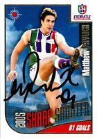 ✺Signed✺ 2006 FREMANTLE DOCKERS AFL Card MATTHEW PAVLICH Sharp Shooter