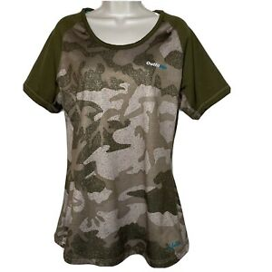 CABELA'S OUTFITHER CAMO THERMAL T-SHIRT Short Sleeve Size Large