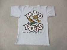 VINTAGE Memphis Mad Dogs Shirt Adult Medium Gray Green Canadian Football Mens *