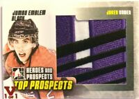 2009-10 ITG Heroes & Prospects Jumbo Emblem Black Jared Cowen Vault Red 1/1