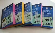 Raffle Cloakroom Tickets 500 1000 Books Tombola Draw Numbered Different Colour