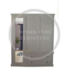 Hospitable Handmade Dewsbury Triple Full Mirrored Wardrobe In Ivory With Topbox Home & Garden assembled