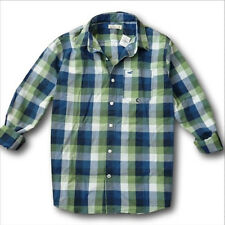 NWT Hollister-Abercrombie&Fitch 100% Cotton Poplin Plaid Shirt Denim red blue