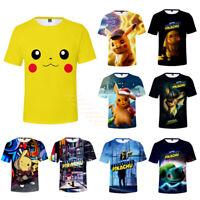Pokemon Detective Pikachu T-Shirt Men Women Summer Short Sleeve Tee Top