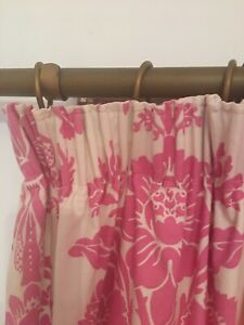 laura Ashley Cerise Tatton Lined Mtm Curtains