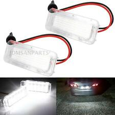 2x LED License Plate Light Xenon White High Power Lamp For Ford Fusion 2013-2016