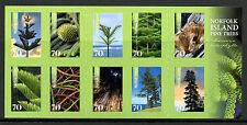 Norfolk Island 2014 MNH Pine Trees 10v S/A Booklet Nature Flora Stamps