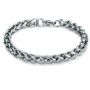 Men's Stainless Steel Bracelet Box Fashion Chain Link Fashion Chunky Gift