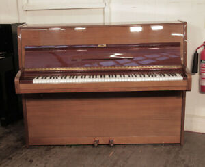 Reconditioned, 1976, Bechstein upright piano in mahogany. 3 year warranty