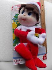 NEW The Elf on the Shelf Plushee Pal Girl Light Skin Brown Hair Blue Eyes