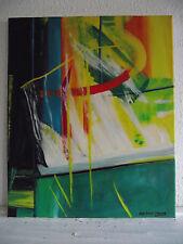tableau ancien huile sur toile GINA DALLA PALMA (XXe-s) -