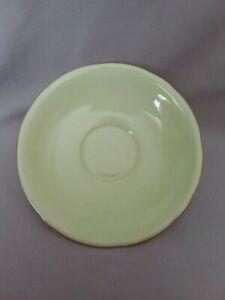 Vintage AYNSLEY Green Bone China England Tea Saucer