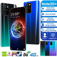 Note 20+ 2020 New Unlocked Cell Phone Android Smartphone Dual SIM 10 Core Cheap